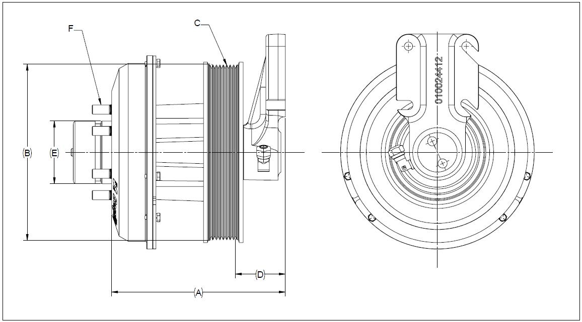 010023777 K32 Rear Air Fan Drive Assembly
