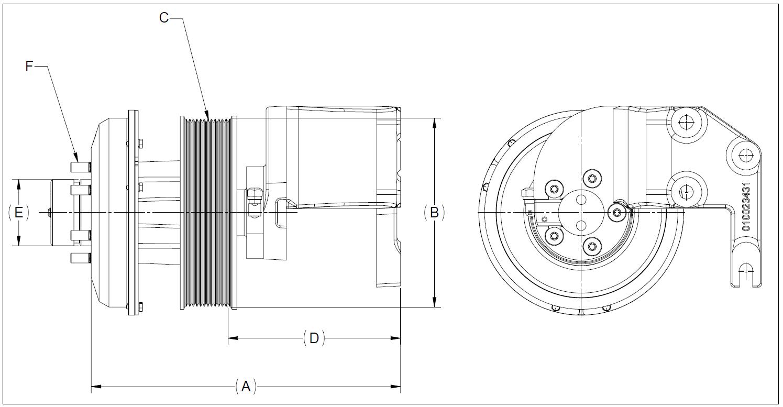 010023795 K32 Rear Air Fan Drive Assembly