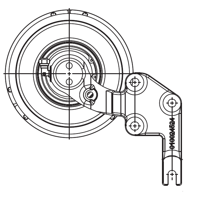 010023797 K32 Rear Air Fan Drive Assembly