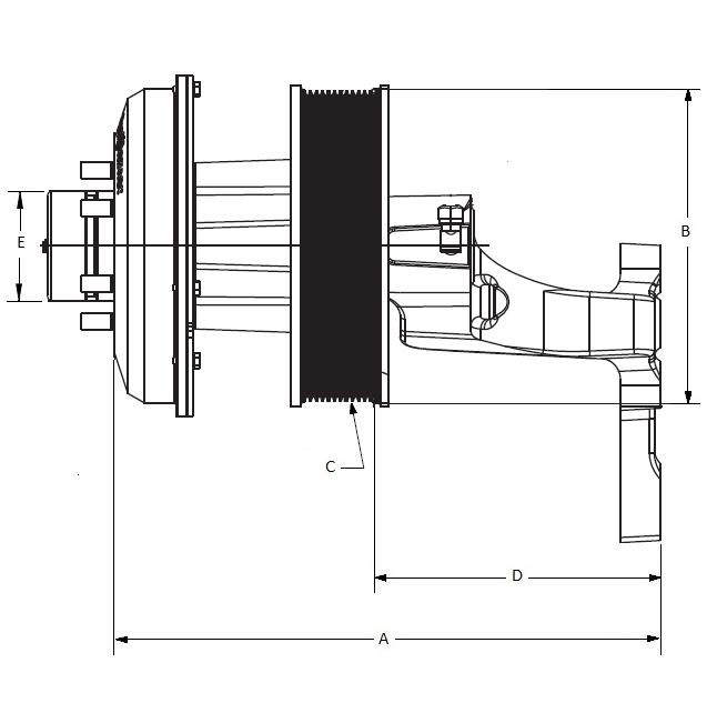 010023798 K32 Rear Air Fan Drive Assembly