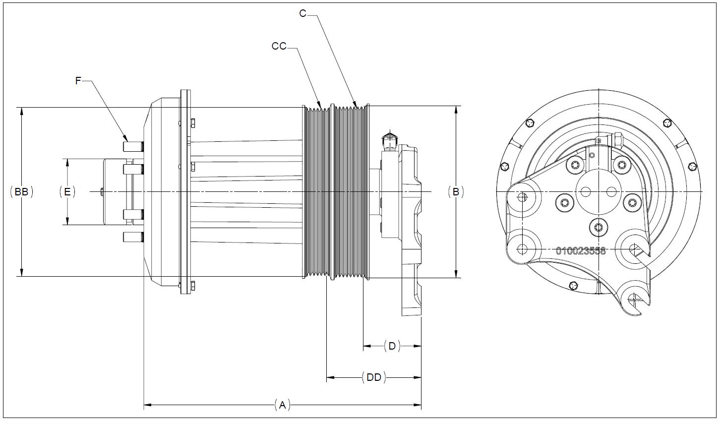 010023812 K32 Rear Air Fan Drive Assembly