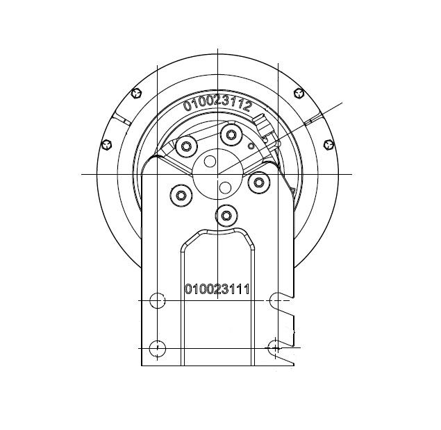 010023818 K30 Rear Air Fan Drive Assembly