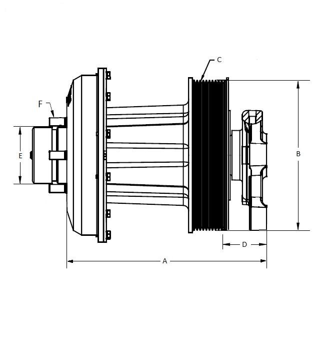 010023866 K30 Rear Air Fan Drive Assembly