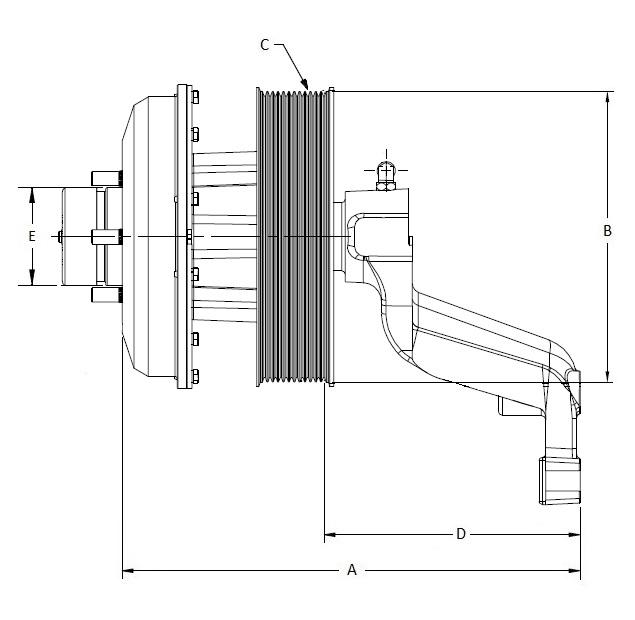 010023980 K30 Rear Air Fan Drive Assembly