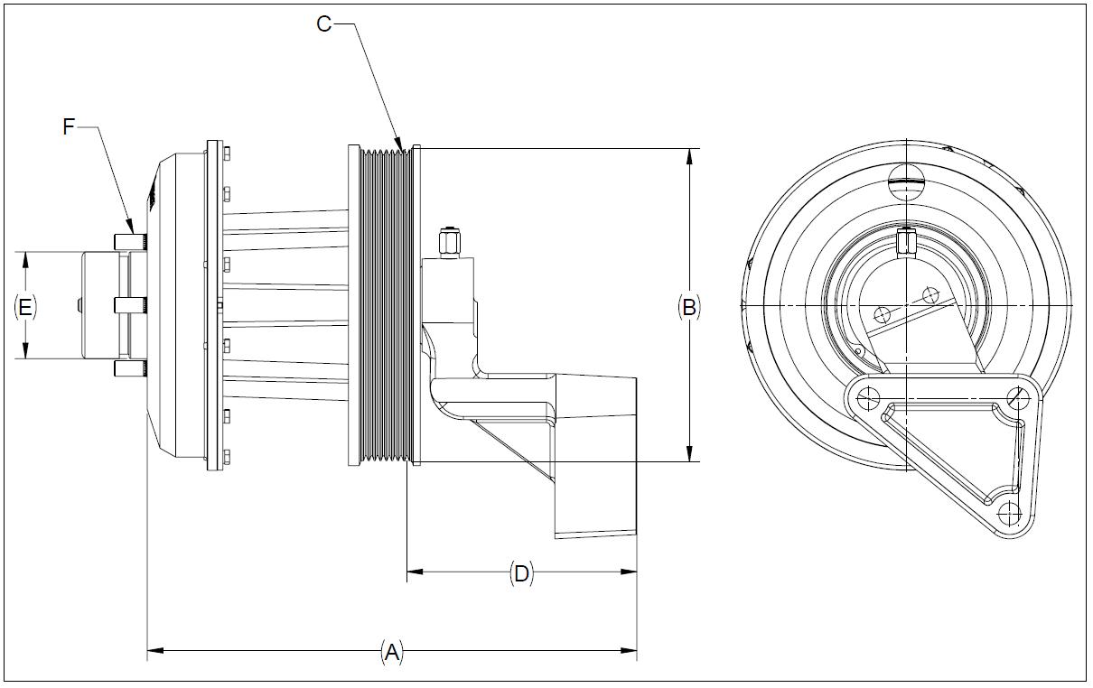010023988 K30 Rear Air Fan Drive Assembly
