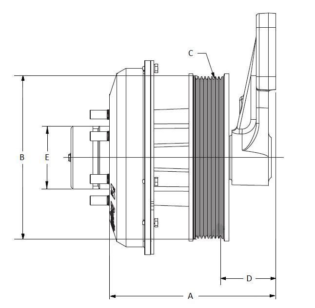 010023999 K32 Rear Air Fan Drive Assembly