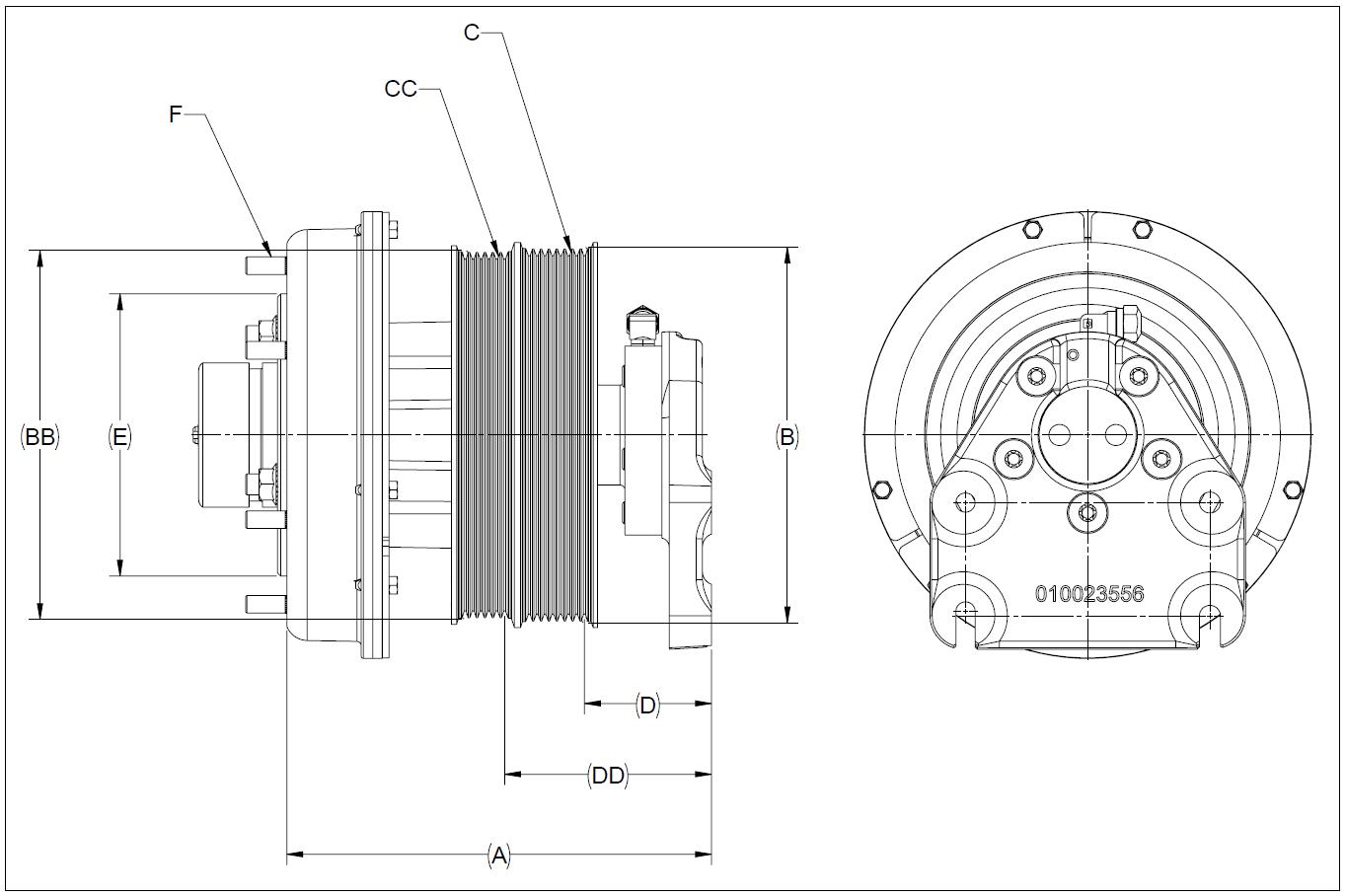 010024135 K32A Rear Air Fan Drive Assembly