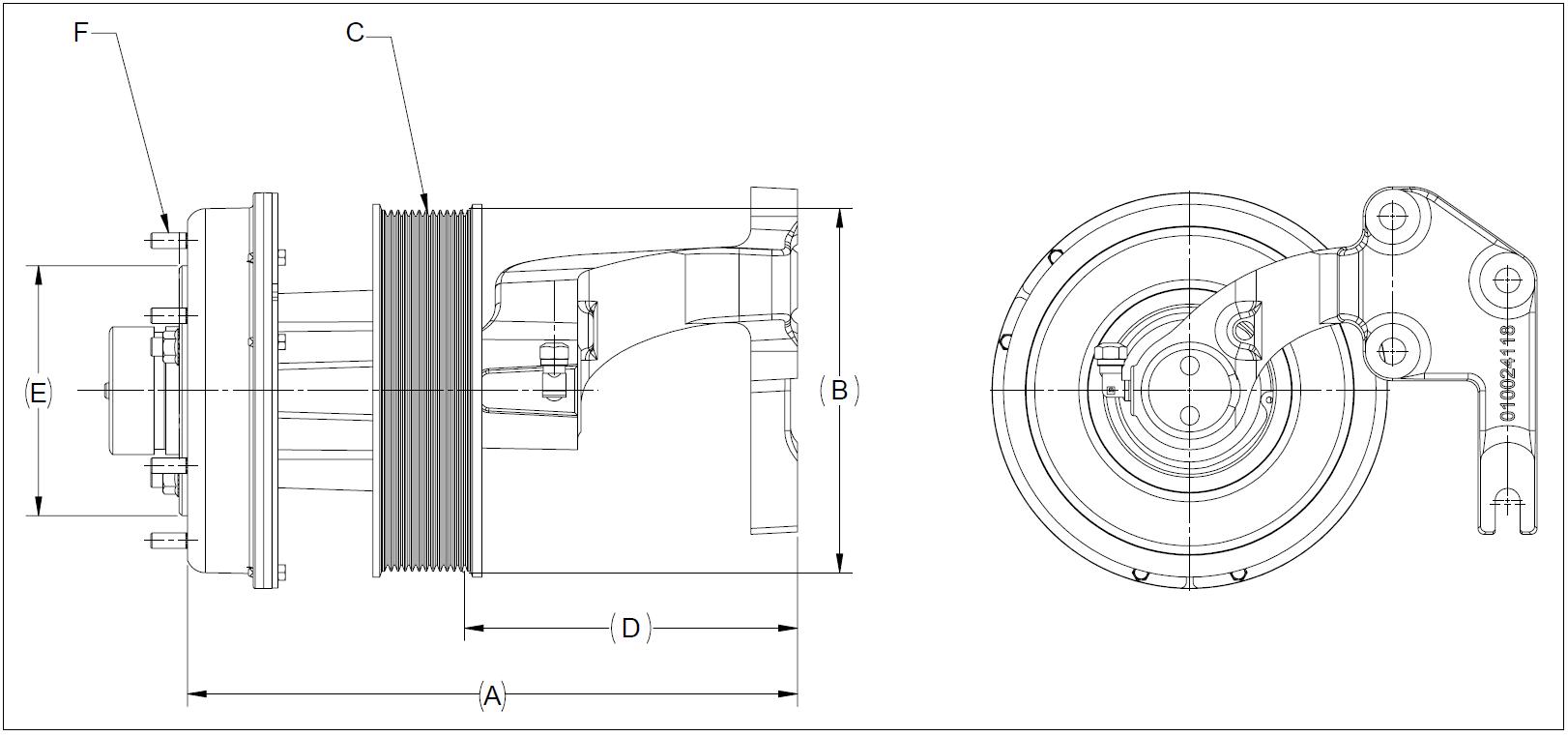 010024144 K30A Rear Air Fan Drive Assembly