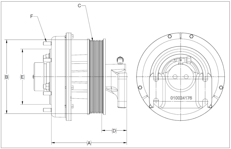 010024179 K32A Rear Air Fan Drive Assembly
