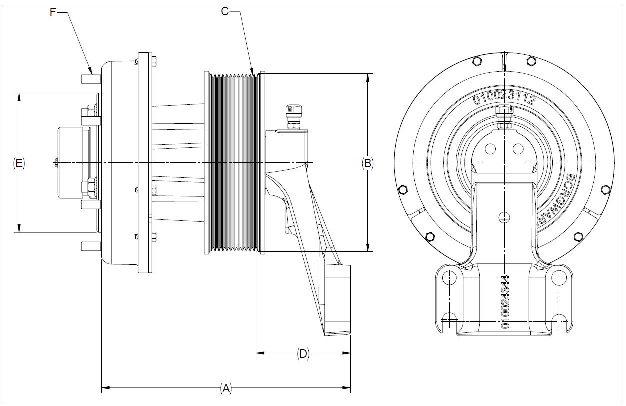 010024338 K32A Rear Air Fan Drive Assembly
