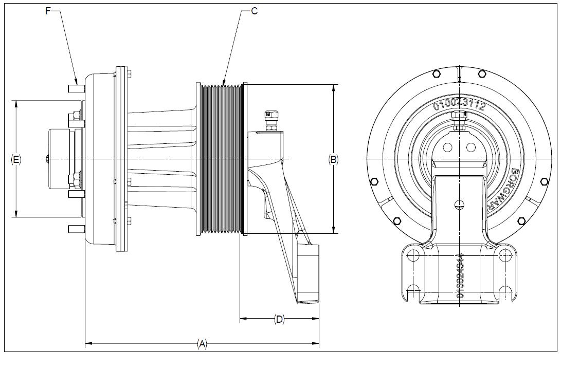 010024340 K32A Rear Air Fan Drive Assembly