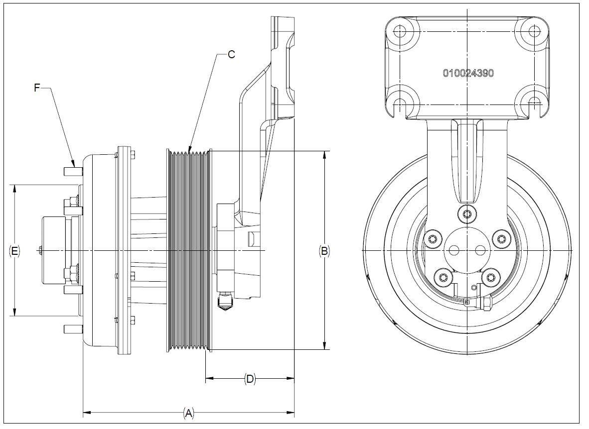 010024393 K32A Rear Air Fan Drive Assembly