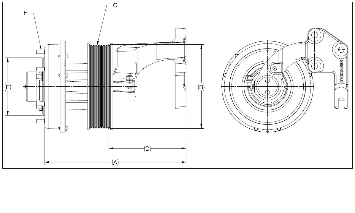 010024395 K30A Rear Air Fan Drive Assembly