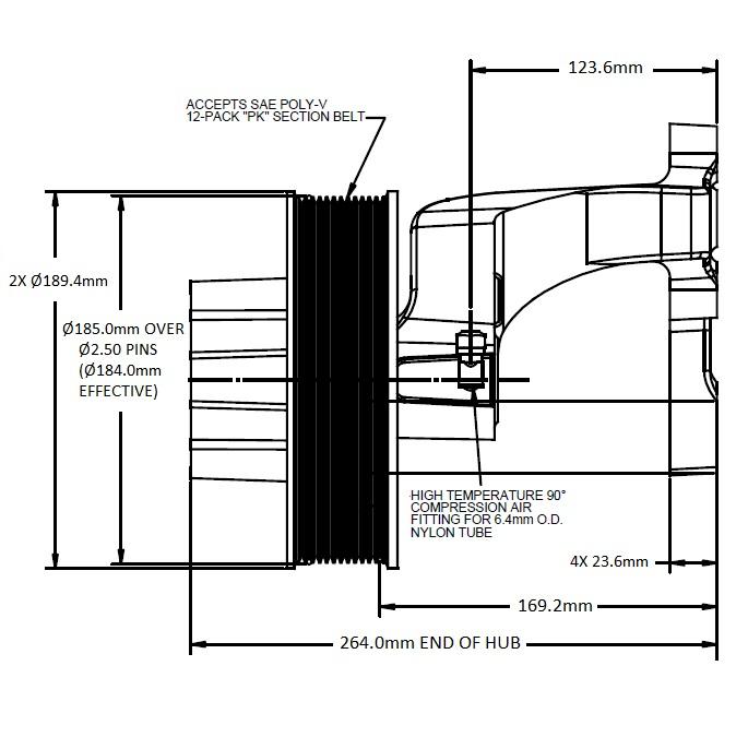 010024396 Engine Cooling Fan Hub