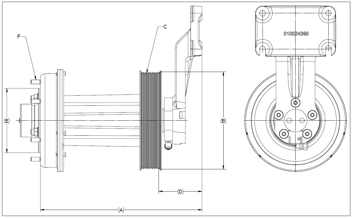 010024403 K32A Rear Air Fan Drive Assembly