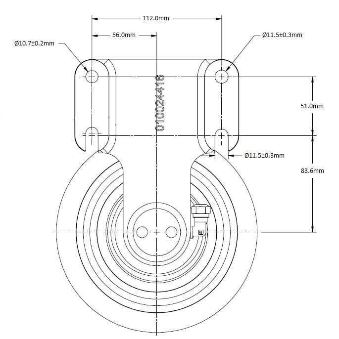 010024414 Engine Cooling Fan Hub