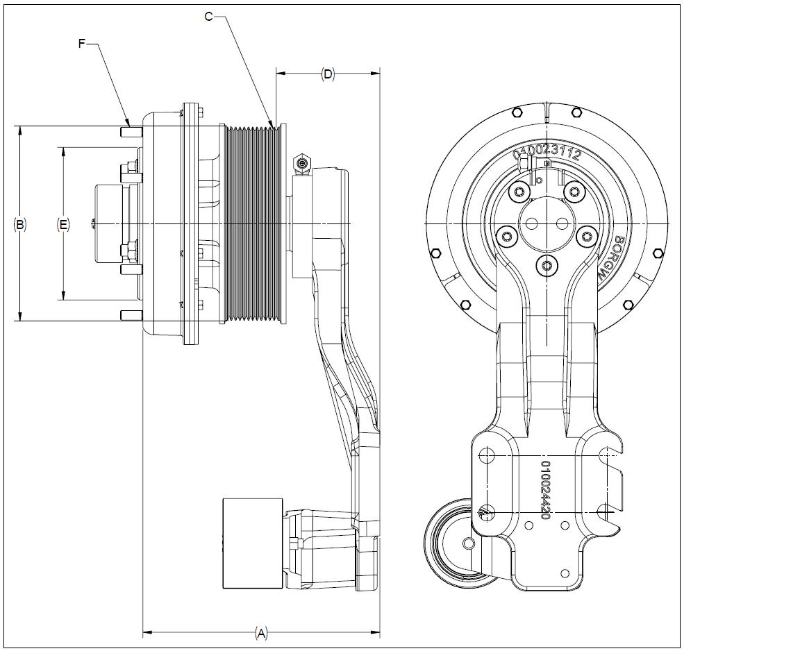 010024423 K32A Rear Air Fan Drive Assembly