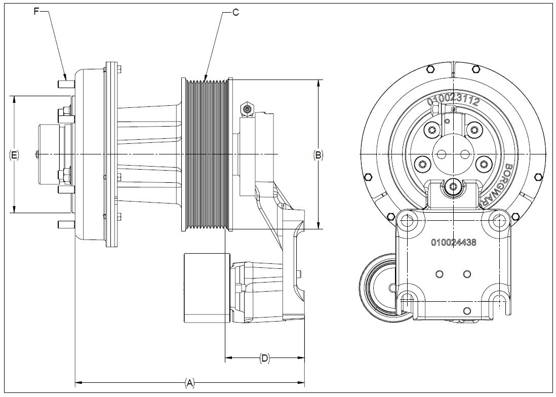 010024434 K32A Rear Air Fan Drive Assembly