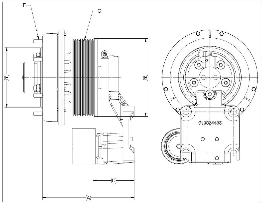 010024435 K32A Rear Air Fan Drive Assembly