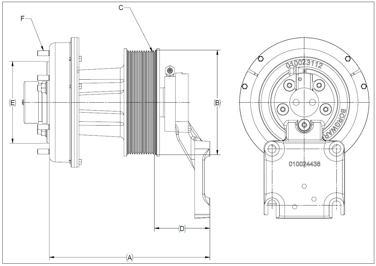 010024460 K32A Rear Air Fan Drive Assembly