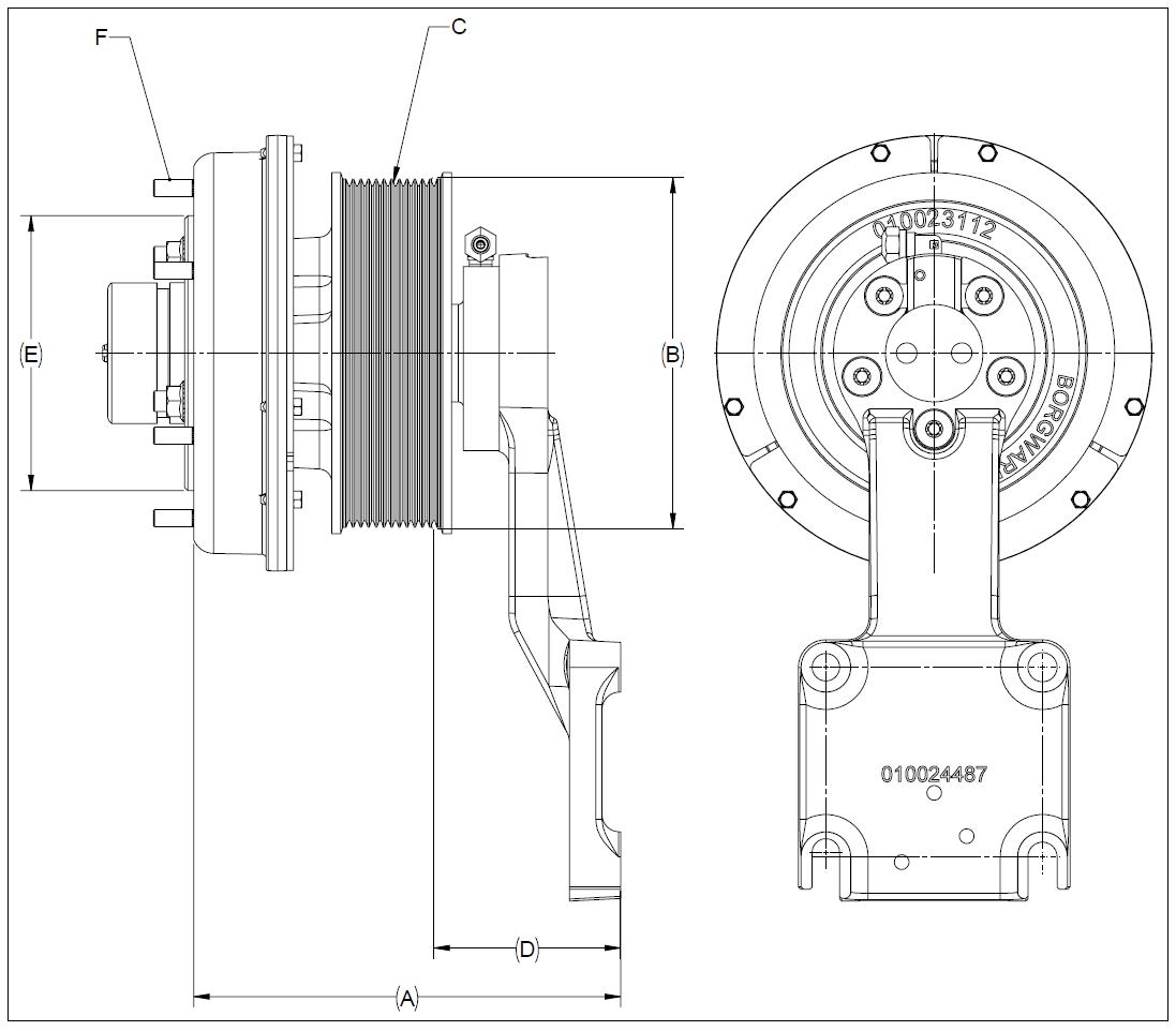 010024461 K32A Rear Air Fan Drive Assembly