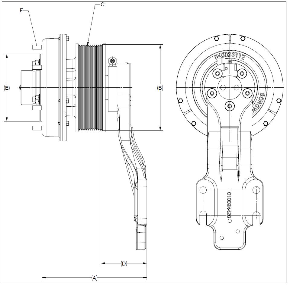 010024462 K32A Rear Air Fan Drive Assembly