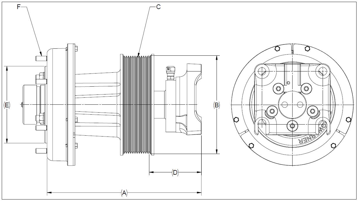 010024471 K32A Rear Air Fan Drive Assembly