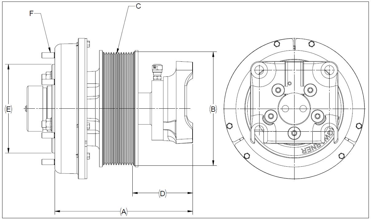 010024472 K32A Rear Air Fan Drive Assembly