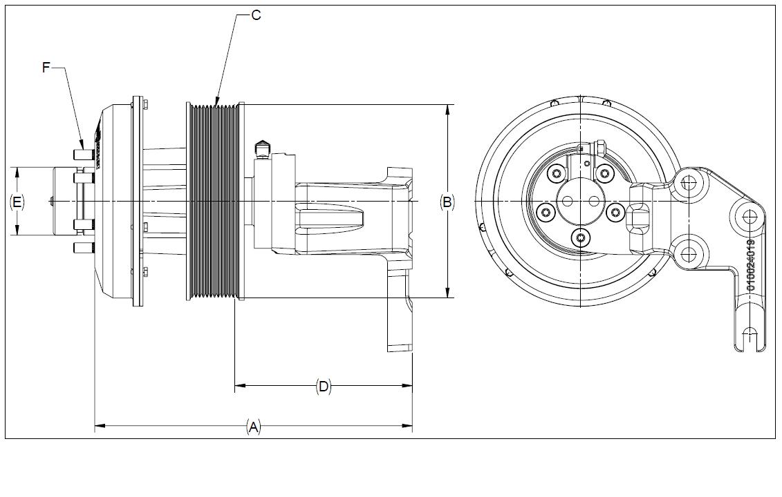 010024493 K32 Rear Air Fan Drive Assembly