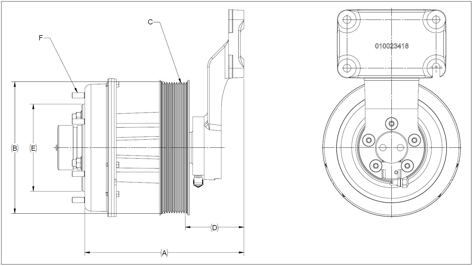 010024539 K32A Rear Air Fan Drive Assembly
