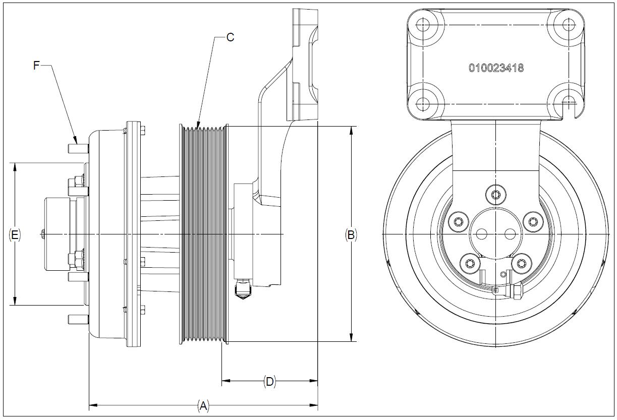 010024540 K32A Rear Air Fan Drive Assembly