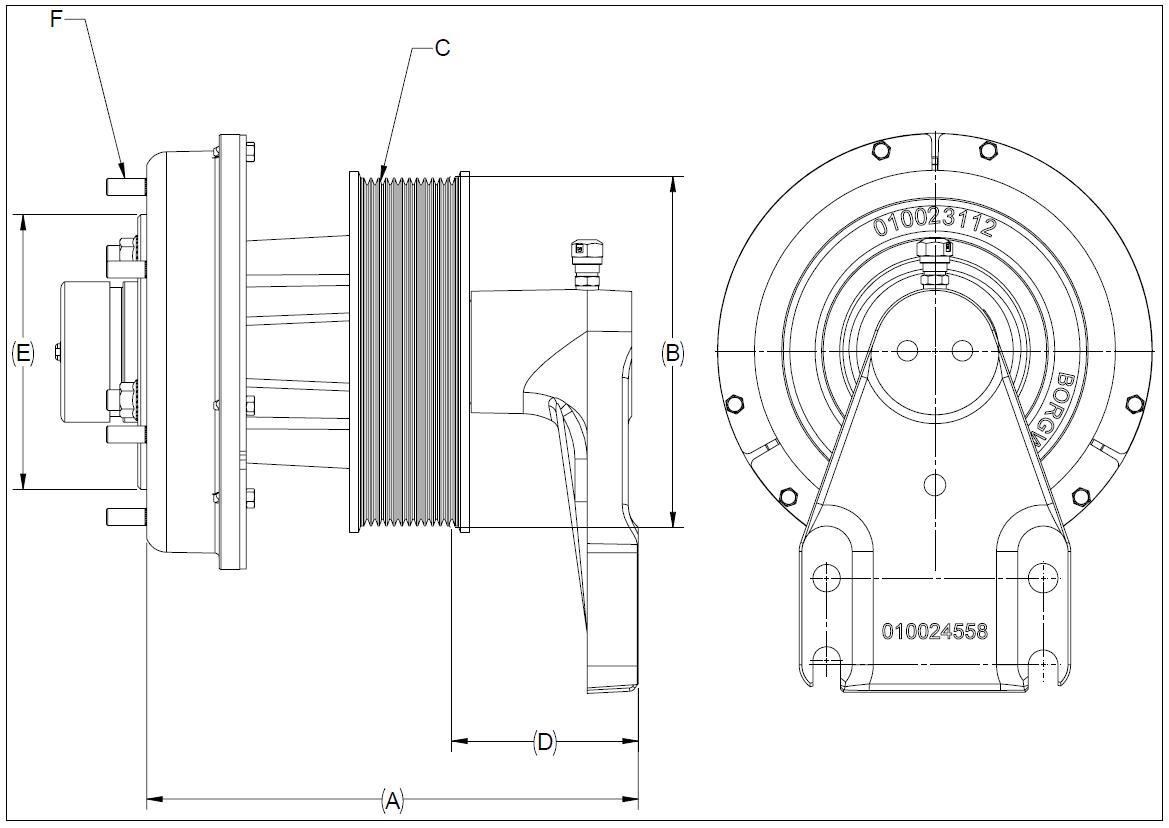 010024551 K32A Rear Air Fan Drive Assembly