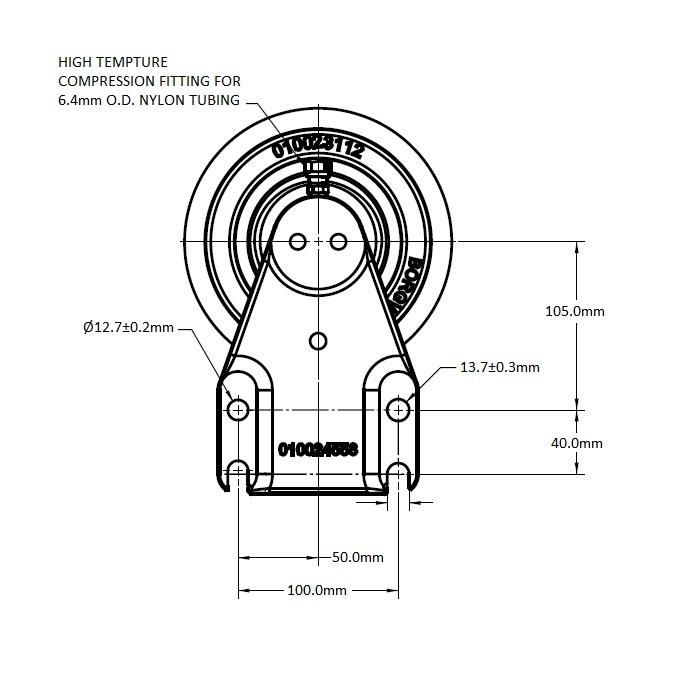 010024553 Engine Cooling Fan Hub