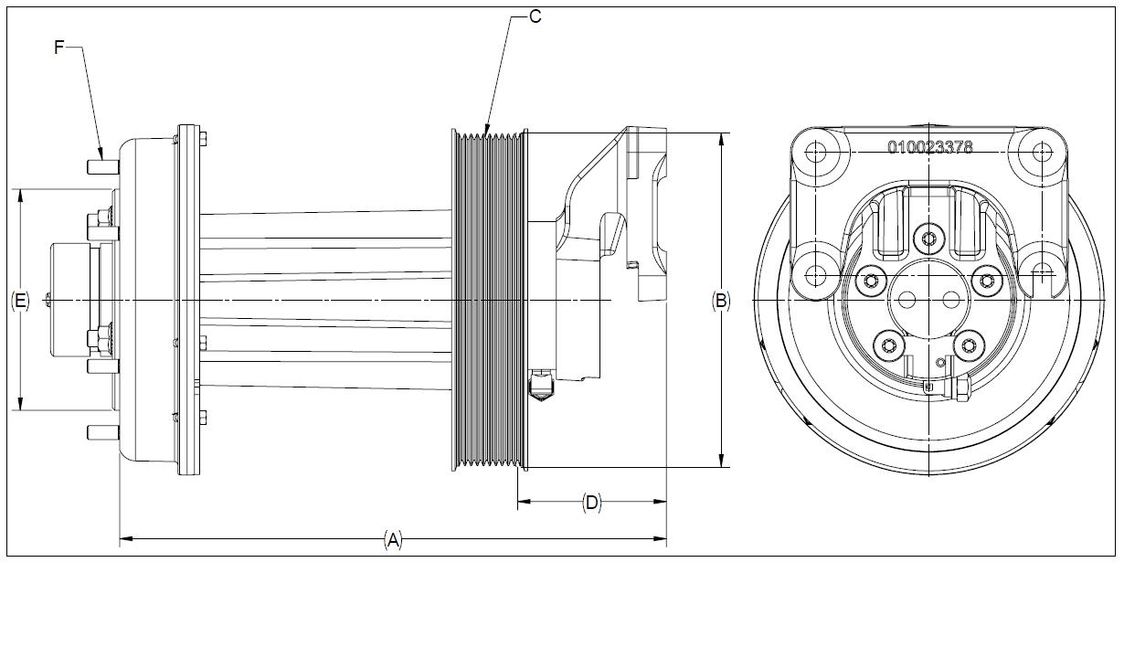 010024569 K32A Rear Air Fan Drive Assembly