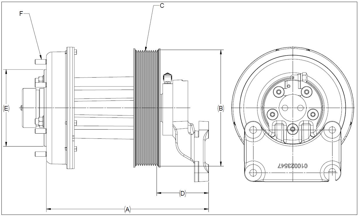 010024572 K32A Rear Air Fan Drive Assembly