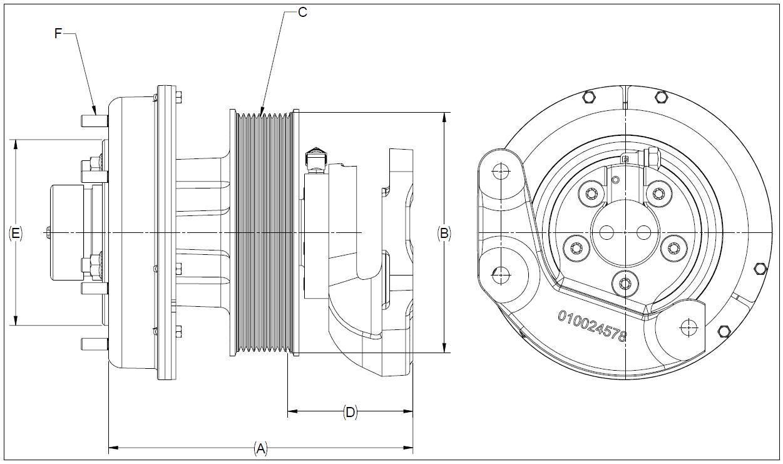 010024575 K32A Rear Air Fan Drive Assembly