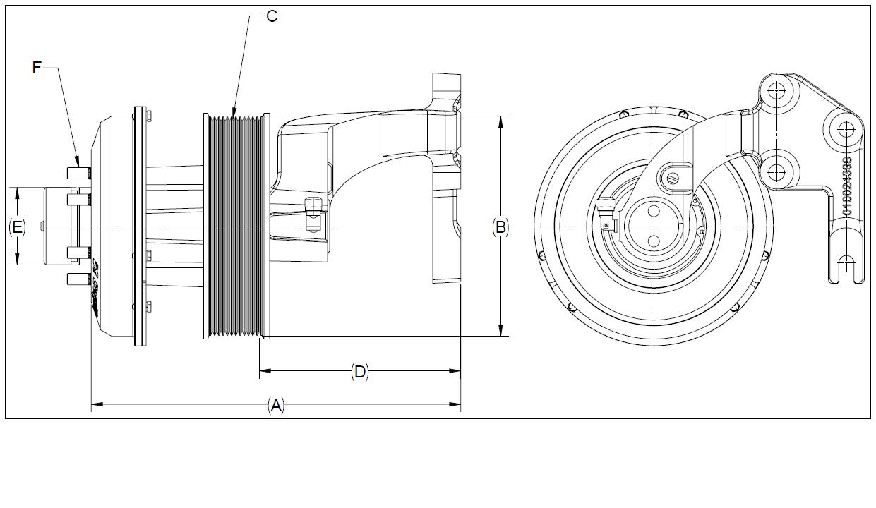 010024579 K32 Rear Air Fan Drive Assembly