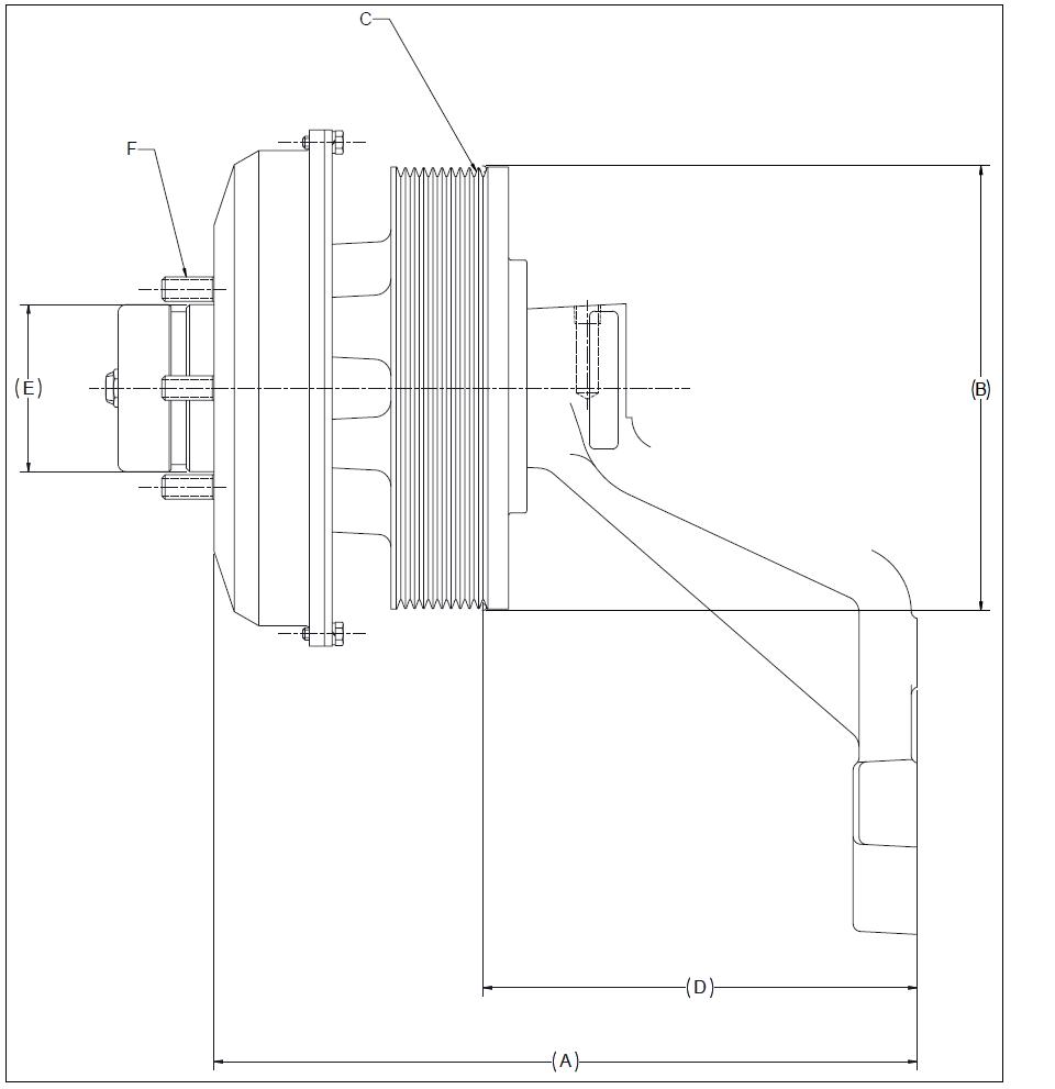 010024586 K30 Rear Air Fan Drive Assembly