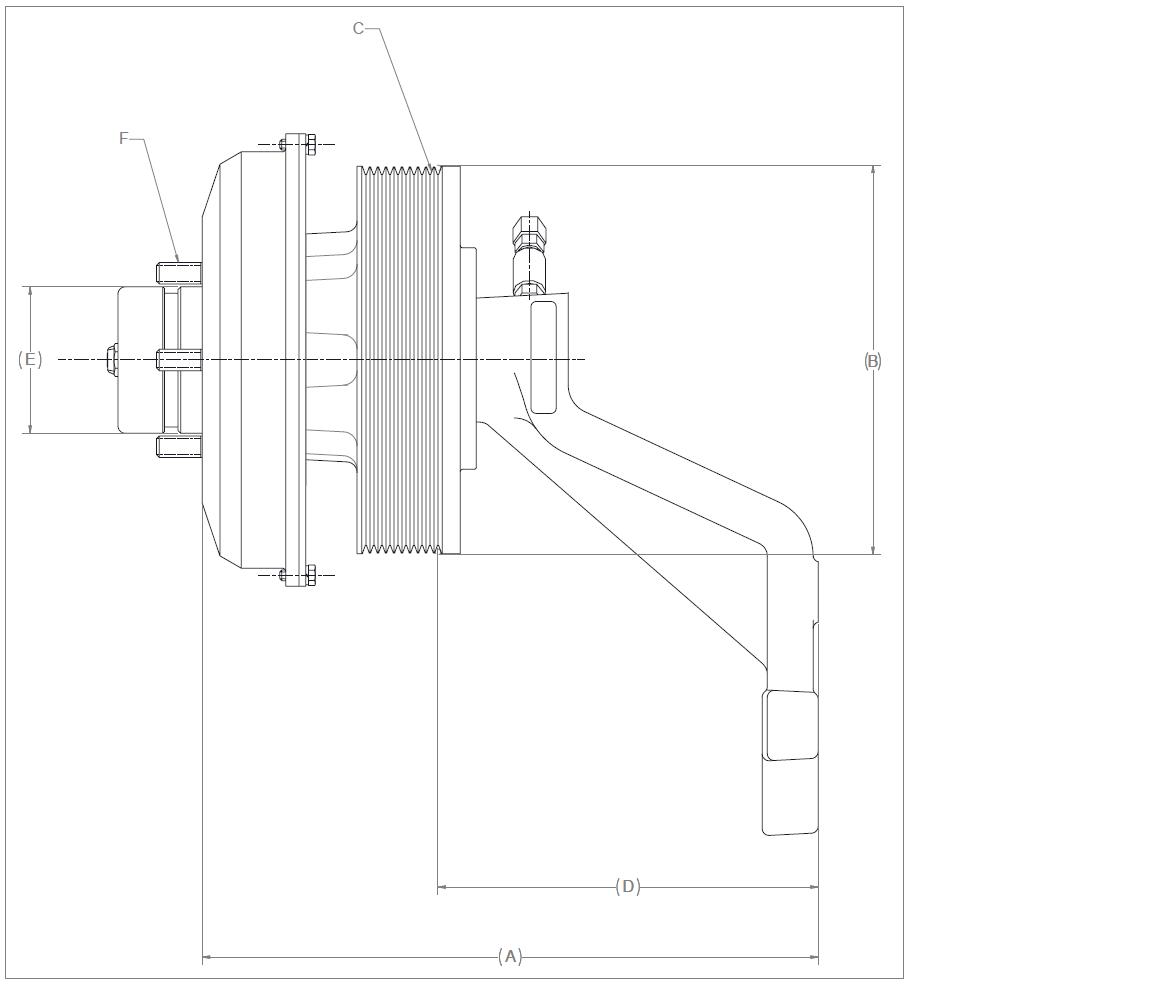 010024588 K30 Rear Air Fan Drive Assembly