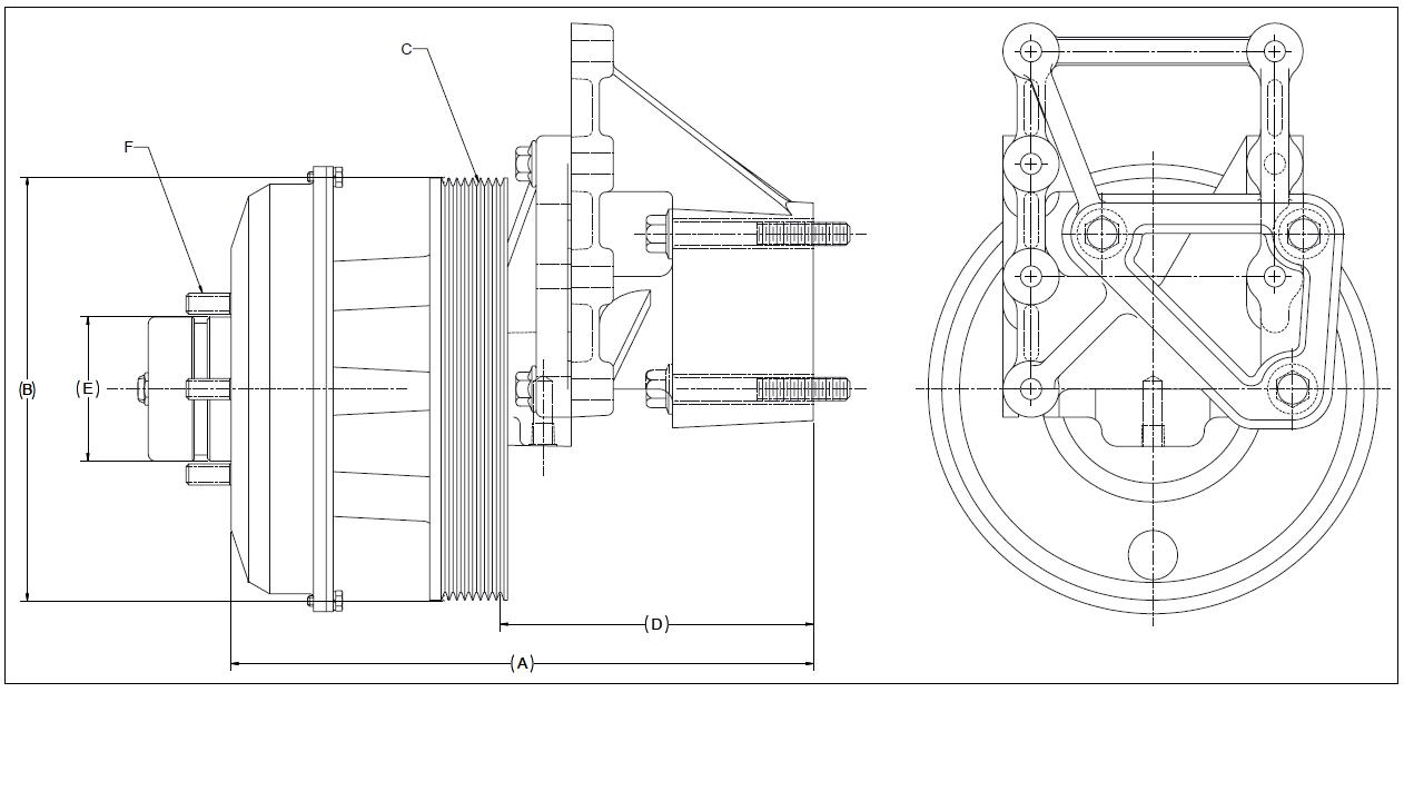 010024589 K30 Rear Air Fan Drive Assembly
