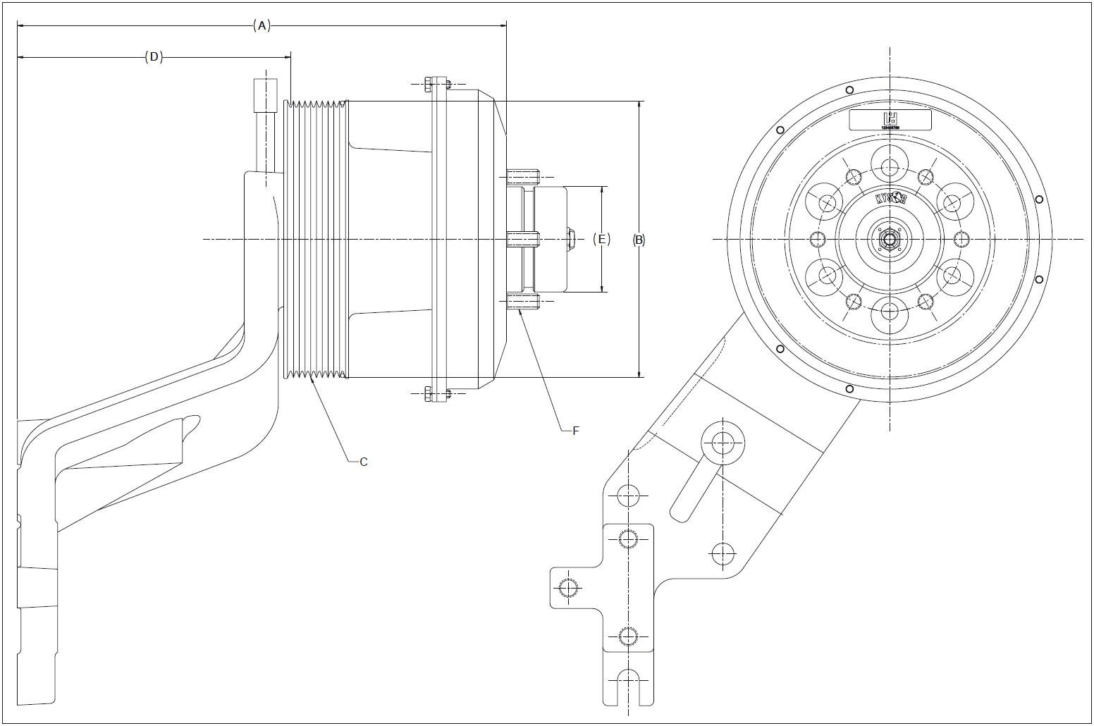 010024590 K30 Rear Air Fan Drive Assembly