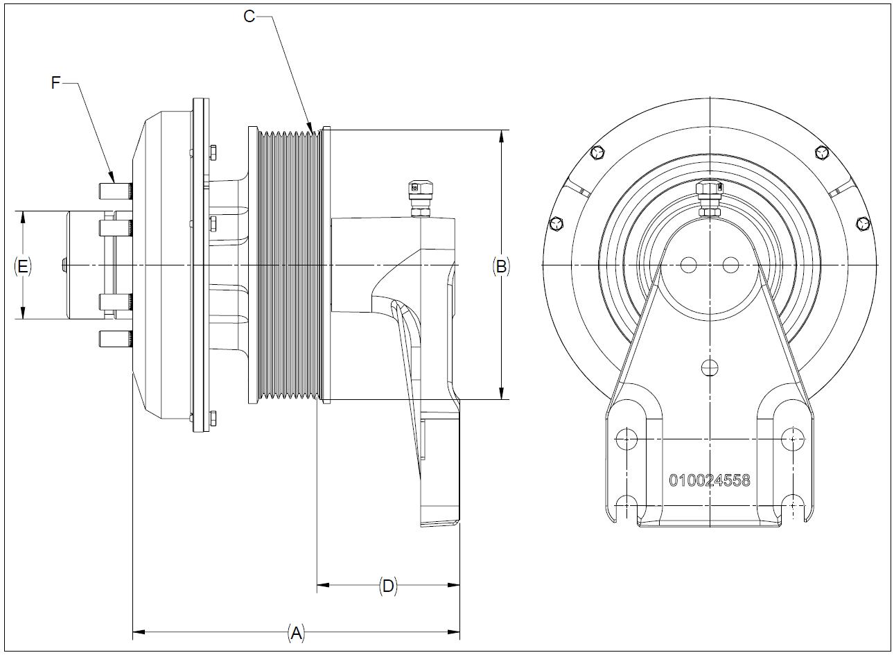 010024595 K32 Rear Air Fan Drive Assembly