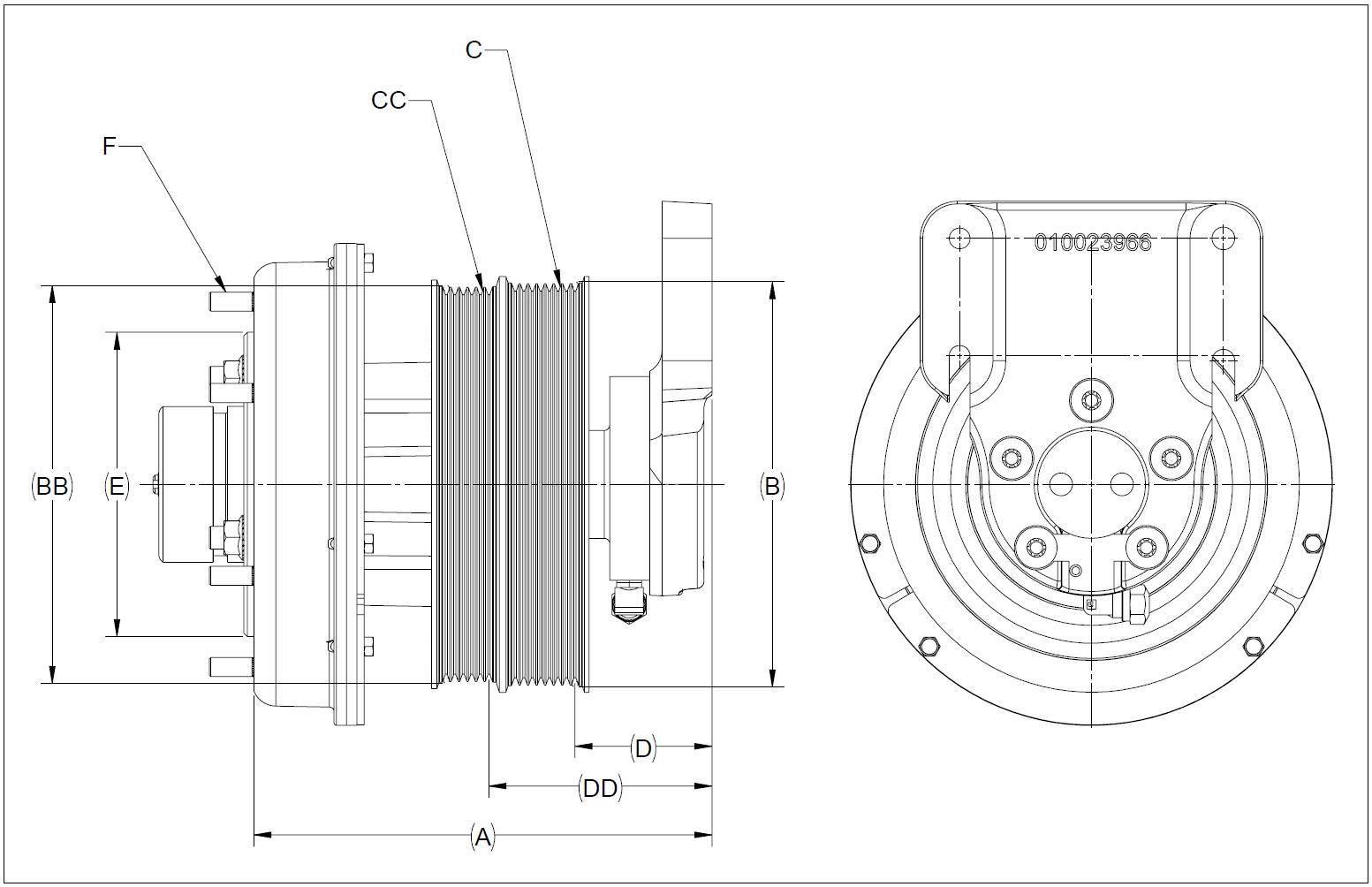 010025085 K32A Rear Air Fan Drive Assembly
