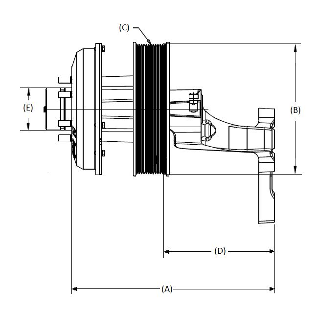 010025147 K32 Rear Air Fan Drive Assembly