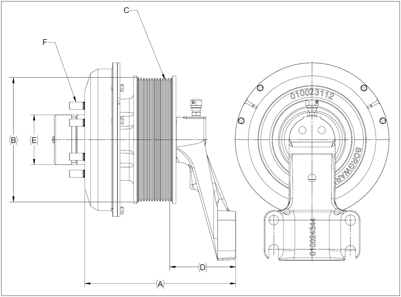 010026178 K32 Rear Air Fan Drive Assembly