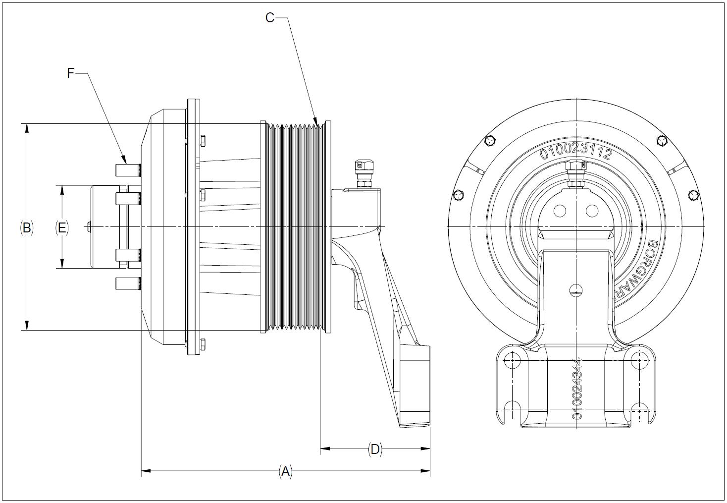 010026179 K32 Rear Air Fan Drive Assembly