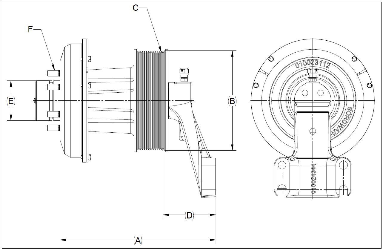 010026180 K32 Rear Air Fan Drive Assembly