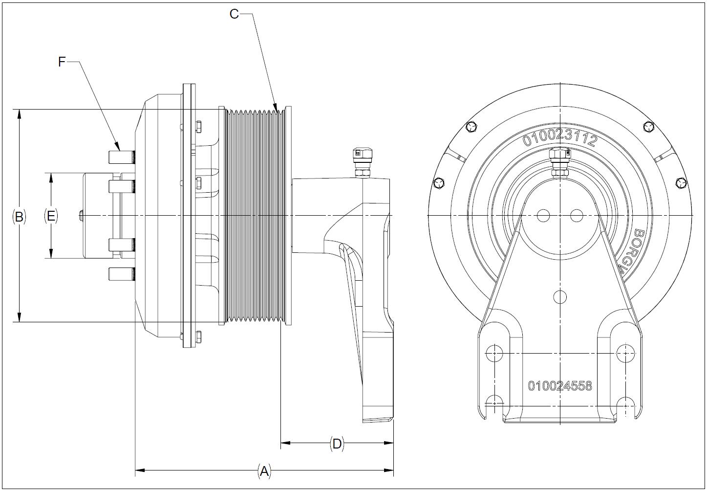 010026187 K32 Rear Air Fan Drive Assembly