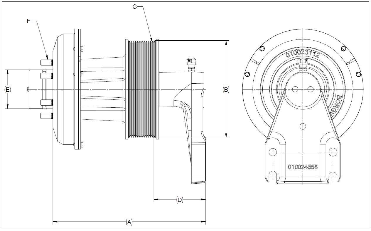 010026189 K32 Rear Air Fan Drive Assembly