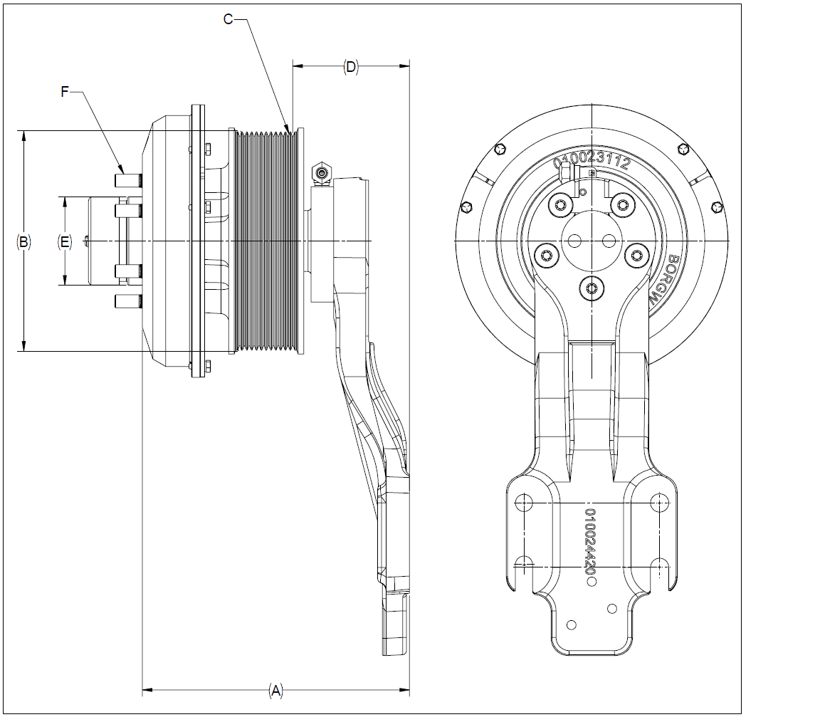 010026192 K32 Rear Air Fan Drive Assembly